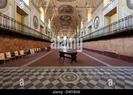 Naples (Italy) - Monumental complex of Santa Maria della Pace, Lazaretto hall - Stock Photo