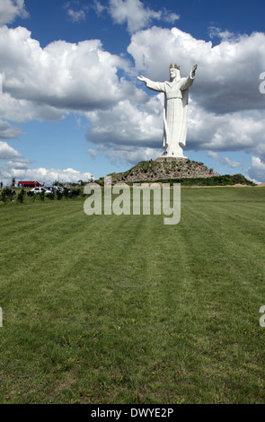 Schwiebus, Poland, the Christ King statue - Stock Photo