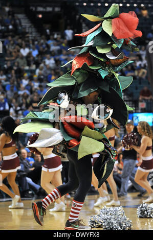 Las Vegas, NV, USA. 14th Mar, 2014. Stanford Cardinal Tree performs in the second half during the College Basketball - Stock Photo