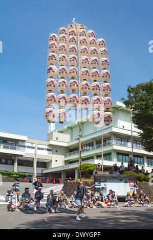 Akita Kanto Matsuri, Akita, Akita Prefecture, Japan - Stock Photo