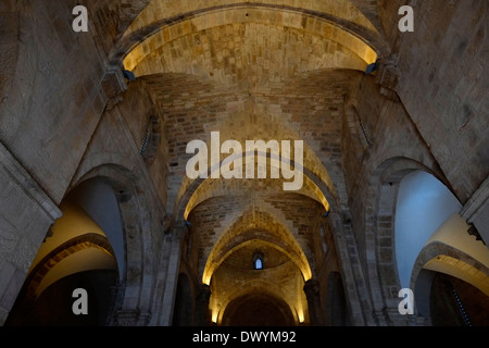 Crusader architecture of the Roman Catholic Church of Saint Anne located in Via Dolorosa in the Muslim Quarter old - Stock Photo