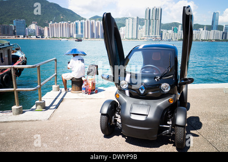 Renault Twizy Electronic Car with cyber design - Stock Photo