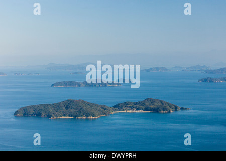 Island in Seto Inland Sea, Iwakuni, Yamaguchi Prefecture, Japan - Stock Photo
