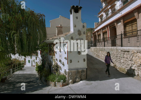 Urban view, Castril, Granada-province, Region of Andalusia, Spain, Europe - Stock Photo