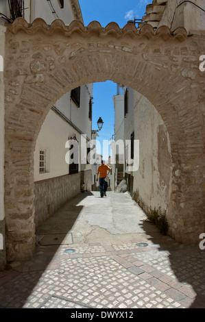 Alley with Moorish arch, Castril, Granada-province, Region of Andalusia, Spain, Europe - Stock Photo