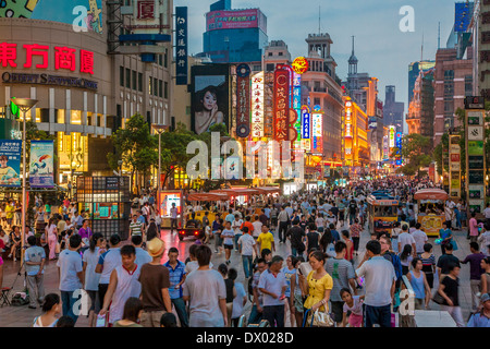 Nanjing Road Shanghai China - Stock Photo