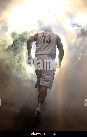 Las Vegas, NV, USA. 15th Mar, 2014. Arizona Wildcats guard Nick Johnson #13 before the College Basketball game between - Stock Photo