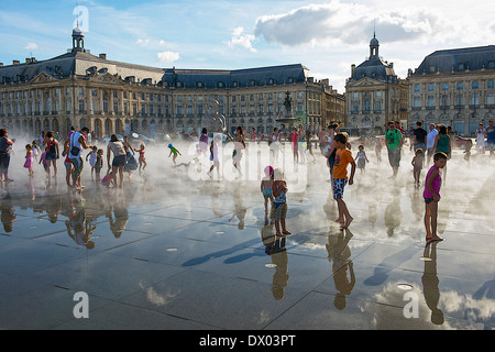 Place de la Bourse in Bordeaux, France - Stock Photo