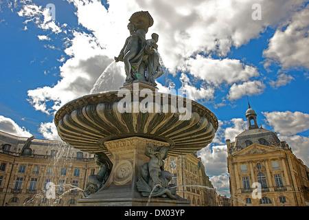 Place de la Bourse in Bordeaux, France - Stock Photo