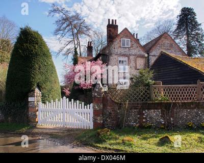 Landscape image of The Old Vicarage Turville Village,Buckinghamshire - Stock Photo