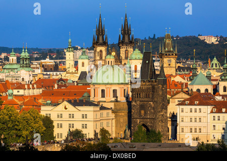 Czech Republic, Skyline of Prague - Stock Photo
