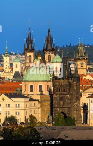Prague, Skyline of Old Town - Stock Photo