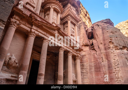 Petra Treasury in Jordan - Stock Photo