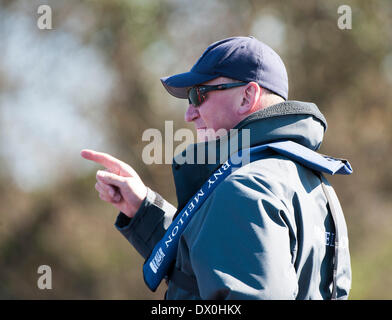 London, UK. 16th March 2014. Sir Matthew Pinsent Umpire during the fixture between the Cambridge University Blue - Stock Photo