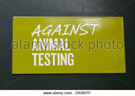 Plaque Against Animal Testing - Stock Photo