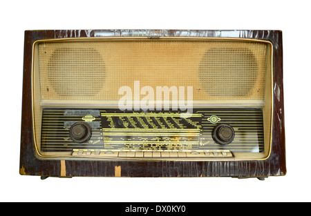 Vintage radio with clipping path - Stock Photo