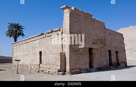 Temple of Ramses III at Medinet Habu,the house of Divines Adorers of Amon - Stock Photo