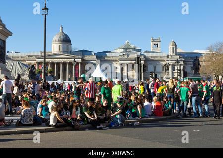 London, UK. 16th Mar, 2014. St Patrick's Day celebrations at Trafalgar Square in London Credit:  Mike Clegg/Alamy - Stock Photo
