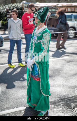 London, UK. 16th Mar, 2014. St Patrick's Day Parade in London Credit:  Zefrog/Alamy Live News - Stock Photo