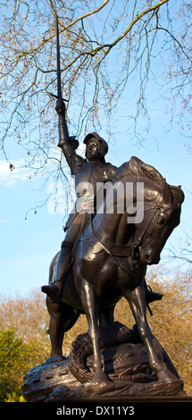 The magnificent Cavalry Memorial statue in Hyde Park, London. - Stock Photo