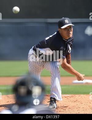 Tampa, Florida, USA. 16th Mar, 2014. Masahiro Tanaka (Yankees) MLB : Masahiro Tanaka of the New York Yankees during - Stock Photo