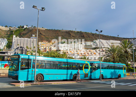 Long distance bus station puerto rico gran canaria island the stock photo royalty free image - Taxi puerto rico gran canaria ...