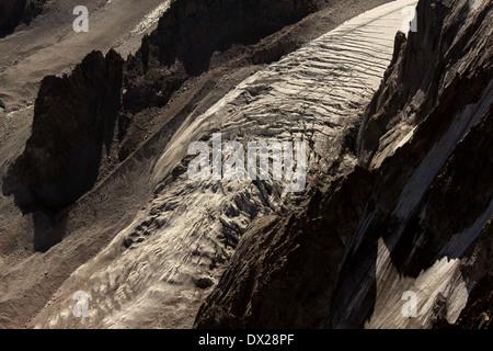 Golubina glacier, Ala-Archa National Park, Kyrgyz range, Tien-Shan. Kyrgyzstan - Stock Photo