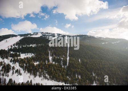Avet ski slope in Soldeu, Andorra - Stock Photo