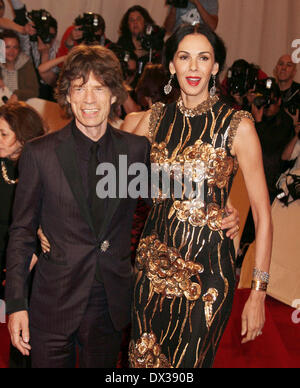 FILE PIX: Fashion designer L'Wren Scott, partner of Mick Jagger, has been found dead at her home in New York in - Stock Photo