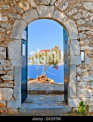 Gate in Palamidi fortress, Nafplio, Greece - Stock Photo