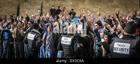 Ramallah, Palestinian Territories. 17th Mar, 2014. March 17, 2014 - Ramallah, West Bank, Palestinian Territory  - Stock Photo