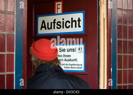 S-Bahn station Wannsee - Stock Photo