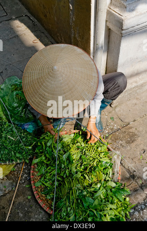 Street scene in the old quarter Hanoi  Vietnam South East Asia - Stock Photo