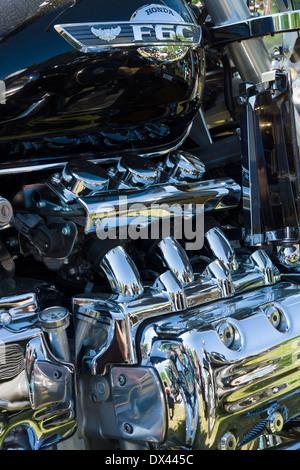 Japanese motorcycle engine Honda Valkyrie, close-up - Stock Photo