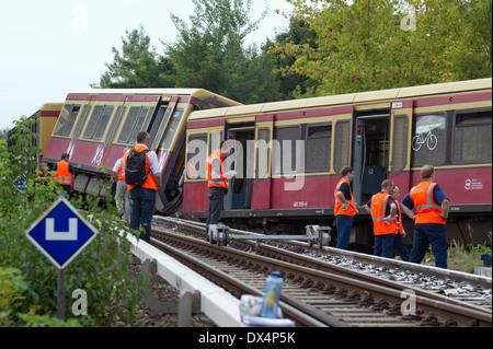 S -Bahn Berlin accident - Stock Photo