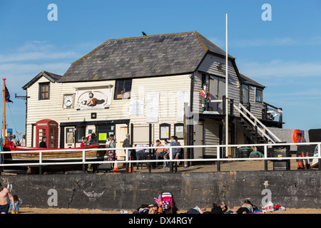 The Old Lifeboat House from the Beach Broadstairs Kent - Stock Photo