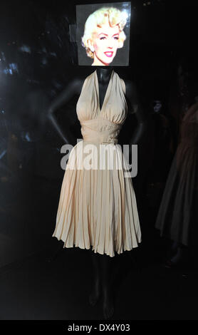 The Seven Year Itch - Marilyn Monroe as The Girl Hollywood Costume - press view held at the Victoria and Albert - Stock Photo