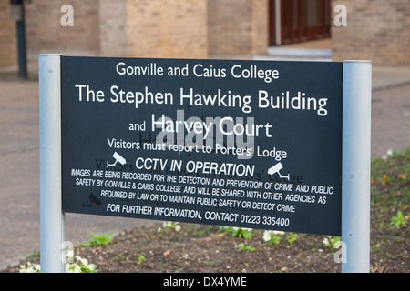 The Stephen Hawking Building  at the Gonville and Caius College Newnham Village, Cambridge - Stock Photo
