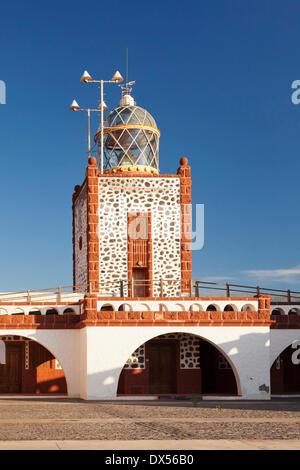 Faro de la Entallada lighthouse at Punta de la Entallada, Fuerteventura, Canary Islands, Spain - Stock Photo