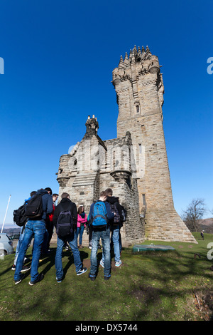 The National Wallace Monument on Abbey Craig, near Stirling, Scotland - Stock Photo