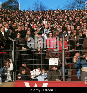 football, Bundesliga, 1973/1974, Stadium an der Castroper Strasse, VfL Bochum versus FC Bayern Munich 0:1, visitors, - Stock Photo