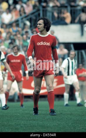 football, Bundesliga, 1973/1974, Stadium am Boekelberg, Borussia Moenchengladbach versus FC Bayern Munich 5:0, Franz - Stock Photo