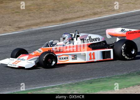 James Simon Wallis Hunt. #11 Marlboro Team McLaren, McLaren M23 Ford V8 - Stock Photo