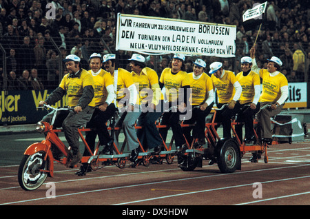 football, European Champion Clubs Cup, Champions League, 1975/1976, last sixteen, first leg, Rhine Stadium Duesseldorf, - Stock Photo