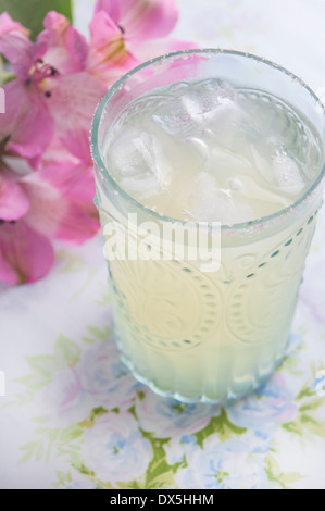 A Lime Margarita with Salted Rim - Stock Photo