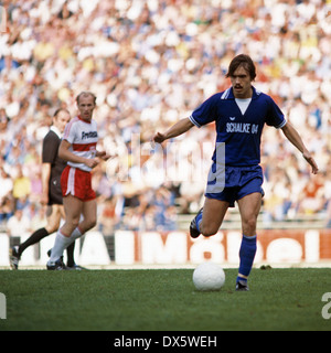 football, Bundesliga, 1977/1978, Parkstadion, FC Schalke 04 versus VfB Stuttgart 3:1, scene of the match, Manfred - Stock Photo