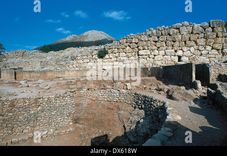 Greece. Mycenae. Royal Tombs. Circle A. Double circle within which there are six Shaft Graves. 14th century B.C - Stock Photo