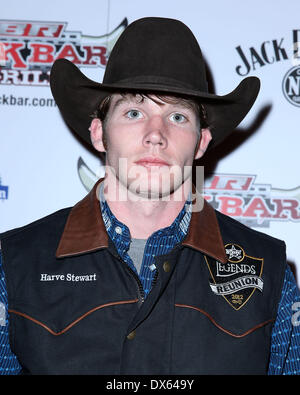 Harve Stewart Professional Bull Rider Superstars walk the red carpet at PBR Rock Bar inside The Miracle Mile Shops - Stock Photo
