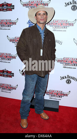 Edevaldo Ferrelra Professional Bull Rider Superstars walk the red carpet at PBR Rock Bar inside The Miracle Mile - Stock Photo