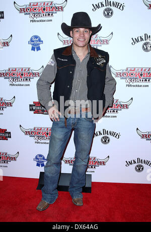 Jory Markiss Professional Bull Rider Superstars walk the red carpet at PBR Rock Bar inside The Miracle Mile Shops - Stock Photo